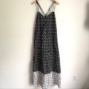NWT Banana Republic SL ikat maxi cross strap dress